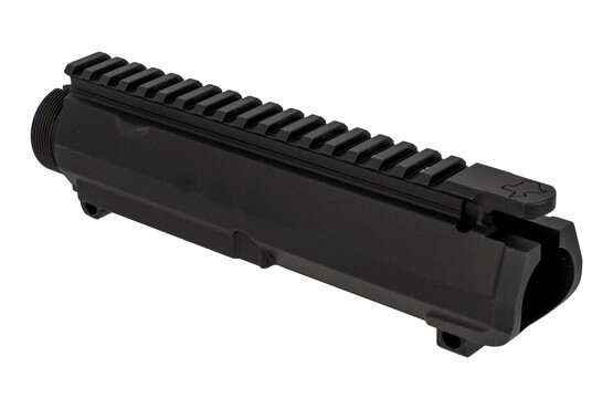 Aero Precision Texas Edition threaded M5 upper receiver in black with laser engraved T-marks